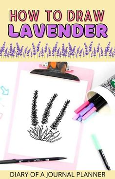 Learn to draw Lavender with this simple step-by-step doodle guide! #lavender #doodling #Howtodraw Easy Flower Drawings, Easy Doodles Drawings, Flower Drawing Tutorials, Easy Doodle Art, Cool Doodles, Drawing Flowers, Simple Doodles, Drawing Ideas, Leaves Doodle