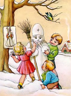 Nicholas activities-how fun! Father Christmas, Simple Christmas, Winter Christmas, Victorian Christmas, Vintage Christmas, St Nicholas Day, Christmas Time Is Here, Catholic Art, Christmas Images