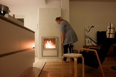Tulikivi Kalla #takka #fireplace Home Decor, Wood Burning Fireplaces, Stoves, Decoration Home, Room Decor, Home Interior Design, Home Decoration, Interior Design