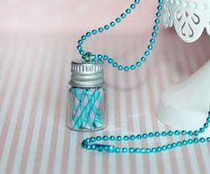 Tarro de caramelos collar - collar botella dulces - bombones - alimentos Mini…
