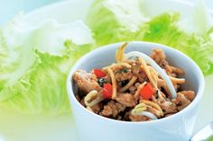 Chicken sang choy bow