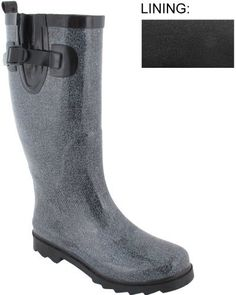 Capelli New York Shiny Denim Printed Ladies Rain Boots Capelli New York. $19.95. Made in China. Height: 340MM. Sporty Body. Upper: Rubber; Outsole: Rubber. Waterproof