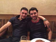 Bellissima serata con i miei compagni di viaggio !!  #food #madeinitaly #starter #entrecote #italianfood #wine #munich #germany