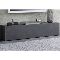 Buffet bas - Gris ardoise- Vue 1 Ikea Regal Expedit, New Swedish Design, Billy Regal, Home And Living, Living Room, Flatscreen, House Entrance, Tv Cabinets, Joinery