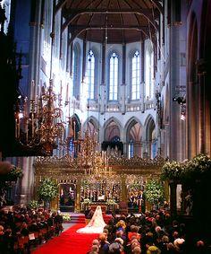 "gabriellademonaco:  ""Wedding of Willem-Alexander & Maxima at Amsterdam's Nieuwe Kerk (2002)  """