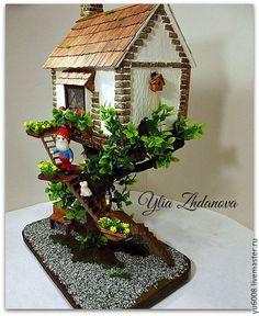 Кукольный дом ручной работы. Ярмарка Мастеров - ручная работа. Купить Миниатюрный домик для Гнома.. Handmade. Разноцветный, домик кукольный