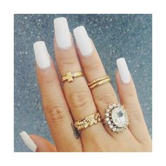 RayBabyRay ❤ liked on Polyvore featuring nails, makeup, rings, beauty and jewelry