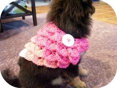 Crochet Pet Dog Crocodile Wrap Scarf   Kawaii Crochet
