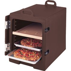 Cambro Dark Brown, Insulated Food Carrier for 13x18 Sheet Pans, Stackable 1318MTC-131