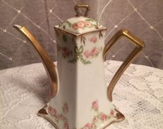 Limoge Bone China Tea Service | LIMOGES TEA POT bone china/ Old Abb ey tea pot Limoges France. ...