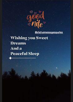 Good Night Wishing you sweet dreams and a peaceful sleep #goodnight Good Night Qoutes, Good Night Hindi, Good Night Messages, Good Night Wishes, Good Night Sweet Dreams, Night Quotes, Good Night Dear Friend, Night Love, Good Night Image