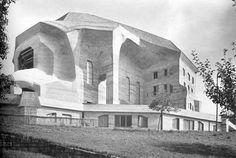Rudolf Steiner's second Goetheanum, largest German expressionism building, 1928