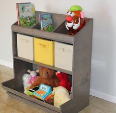 Wood Storage Shelves/Toy Box On Etsy, $320.00