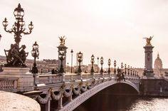 So here is the last of my pictures from Paris. Paris, until we meet again. When it was Essie's Birthday. How cute is this little bridge area. Paris Skyline, New York Skyline, Pont Alexandre Iii, We Meet Again, Paris Travel, Essie