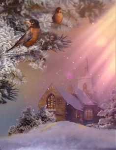 Winter Christmas Scenes, Merry Christmas Gif, Christmas Scenery, Christmas Mood, Christmas Music, Christmas Wishes, Christmas Greetings, Christmas Humor, Merry Christmas Animation