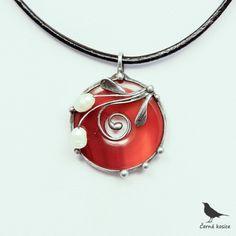 Perlový kolotoč (Karneol) - náhrdelník
