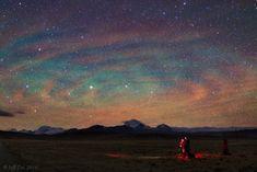 Cielo estrellado sobre la planicie del Tibet (Jeff Dai, 2014)