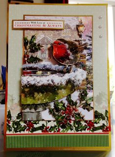 Christmas Card makings from Hunkydory Deco Large Collection Christmas Cards 2017, Christmas Décor, Very Merry Christmas, Xmas Cards, Christmas Decorations, Knitting Patterns Free, Free Knitting, Hunky Dory, Heartfelt Creations