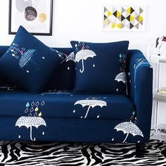 Tufted Sofa Elastic corner sofa cover for living room multi size blue dots print couch sofa cover multi size anti slip universal sofa covers Sofa cover Pinterest