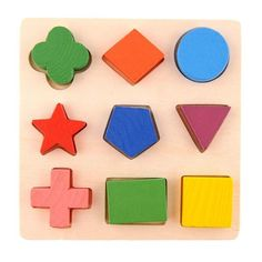 Kids Baby Wooden Puzzle Toys Colorful Geometry Wood Puzzle Montessori Toys Early Learning Educational Toys for Children Wooden Baby Toys, Wood Toys, Toddler Toys, Kids Toys, Children's Toys, Sudoku, Wooden Educational Toys, Wooden Pattern, Shape Puzzles
