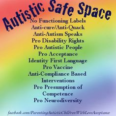 Visit PACLA on FB https://www.facebook.com/ParentingAutisticChildrenWithLoveAcceptance