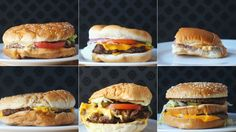 QUIZ: Can you match the burger to the fast food joint? I got 4/6.