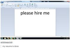 solid resume.  Maybe I should try it out.