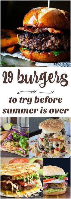29 Burgers To Try Before Summer Is Over - meatless, veggie, classic and LOADED burger recipes