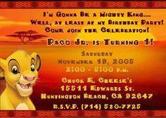 Print Your Own Lion King Birthday Invitation Simba by AtomDesign