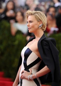 Charlize Theron attends the 'Charles James: Beyond Fashion' Costume Institute Gala at the Metropolitan Museum of Art on May 5, 2014 in New York City.