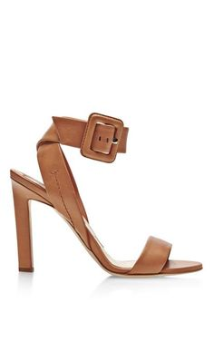 Arizona Ankle-Wrap Leather Sandals by Brian Atwood Now Available on Moda Operandi