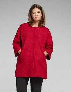 navabi Coatigan aus Filz in Rot