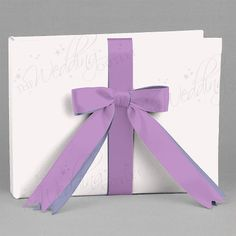 Custom 2-Ribbon Guest Book (dusk with lilac) #theweddingoutlet