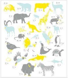 Animal alphabet collage