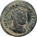 MAXIMIAN receiving Victory from Jupiter 295AD Rare Ancient Roman Coin i46929