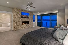 Master Bedroom Layout, Dream Master Bedroom, Tv In Bedroom, Bedroom House Plans, Bedroom Layouts, Mansion Bedroom, Bedroom Ideas, Bedroom Decor, Bedroom Fireplace