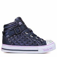 Skechers Kids' Twinkle Toes Sweetheart High Top Sneaker Preschool Shoes ( Navy) - 13.5 M