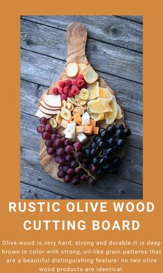 No two olive wood products are identical. It has one rustic edge, each board is different from the other. #OliveWoodKitchenware