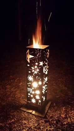 Stars and Moons Vertical Fire Pit by AlizeMetalWorks on Etsy