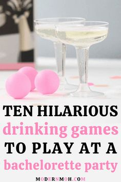 Start the night off right with these 10 funny bachelorette party games. These get-to-know-you games are the perfect way to pregame for girls night out! #funnybachelorettepartygames #bachelorettepartydrinkinggames #ModernMaidofHonor #ModernMOH Bachelorette Party Scavenger Hunt, Bachelorette Sash, Bachelorette Party Planning, Bachelorette Weekend, Funny Drinking Games, Funny Games, 21 Birthday, Birthday Ideas, Girls Night Out