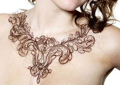 Human Hair Necklaces by Kerry Howley.