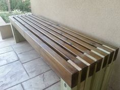 Ana White Build a Modern Slat Top Outdoor Wood Bench Free and Easy DIY Project and Furniture Plans Diy Outdoor Furniture, Furniture Plans, Garden Furniture, Diy Furniture, Outdoor Decor, Outdoor Benches, Antique Furniture, Rustic Furniture, Modern Furniture