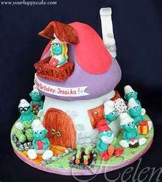 Smurf Cake...too cute!!