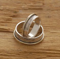 Rustic Sterling Silver and Gold Wedding by SilverJewelleryPlus