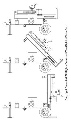 Build it Yourself Wood Splitter Plans for a 45 Ton Hydraulic Vertical Log Splitter Water Well Drilling, Drilling Rig, Woods Equipment, Homemade Tractor, Log Splitter, Firewood Rack, Tractor Implements, Trailer Plans, Homemade Tools