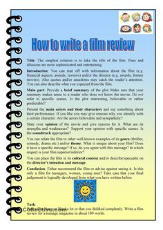 a simple film review sheet to accompany any movie watching  how to write a film review more