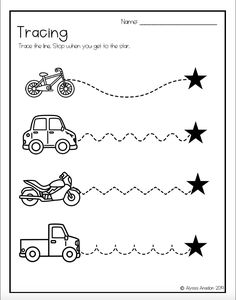 Tracing Worksheets Great for Distance Learning by Sunshine Through the Spectrum Preschool Schedule, Printable Preschool Worksheets, Preschool Writing, Tracing Worksheets, Preschool Learning Activities, Worksheets For Kids, Kindergarten Worksheets, Writing Activities, Preschool Kindergarten