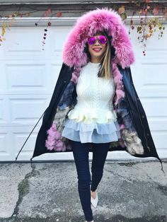 winter coats, winter coats for women, winter coats for girls, pink fur coats, pink and gray fur coats, fur lined coats, fur parka, winter coats 2017, how to style your winter coat, winter coat outfit, peplum fashion, peplum sweater, tulle sweater, how to style your sweater, sweater weather, sweaters for women, fashionable coats, chicago blogger, fashion blogger, warm winter coats, winter outfits