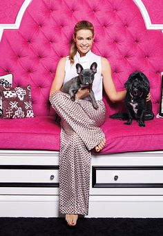 Denise Richards with her cute baby Frenchie & other baby