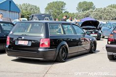 Slammed Passat in the weeds.  Stanced